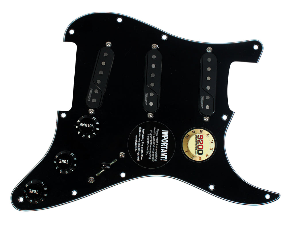 920D Custom Pre Wired Fishman Fluence Loaded Pickguard for S Style BK/BK