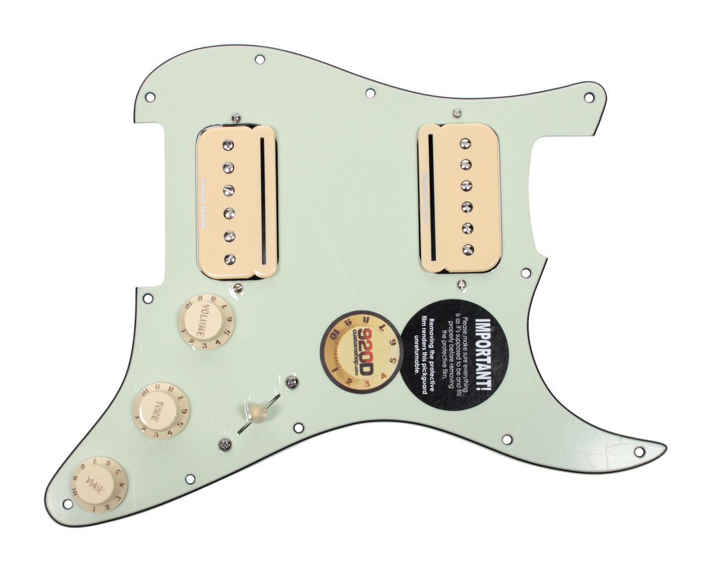 LOADED PICKGUARD MINT GREEN WITH AGED WHITE ALNICO 5 PICKUPS FOR STRATOCASTER