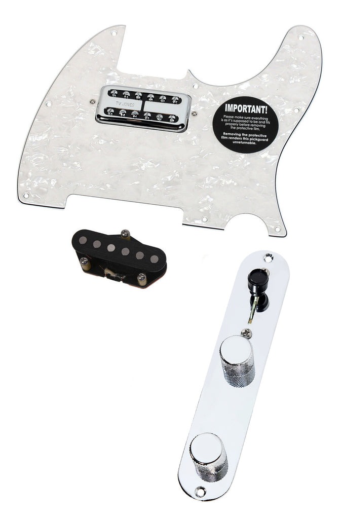 Fender Telecaster Loaded Pickguard TV Jones Magnetron + T Style Bridge T4W AWP