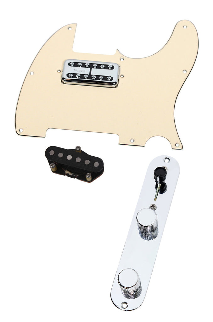 Fender Telecaster Loaded Pickguard TV Jones Magnetron + T Style Bridge T4W CR