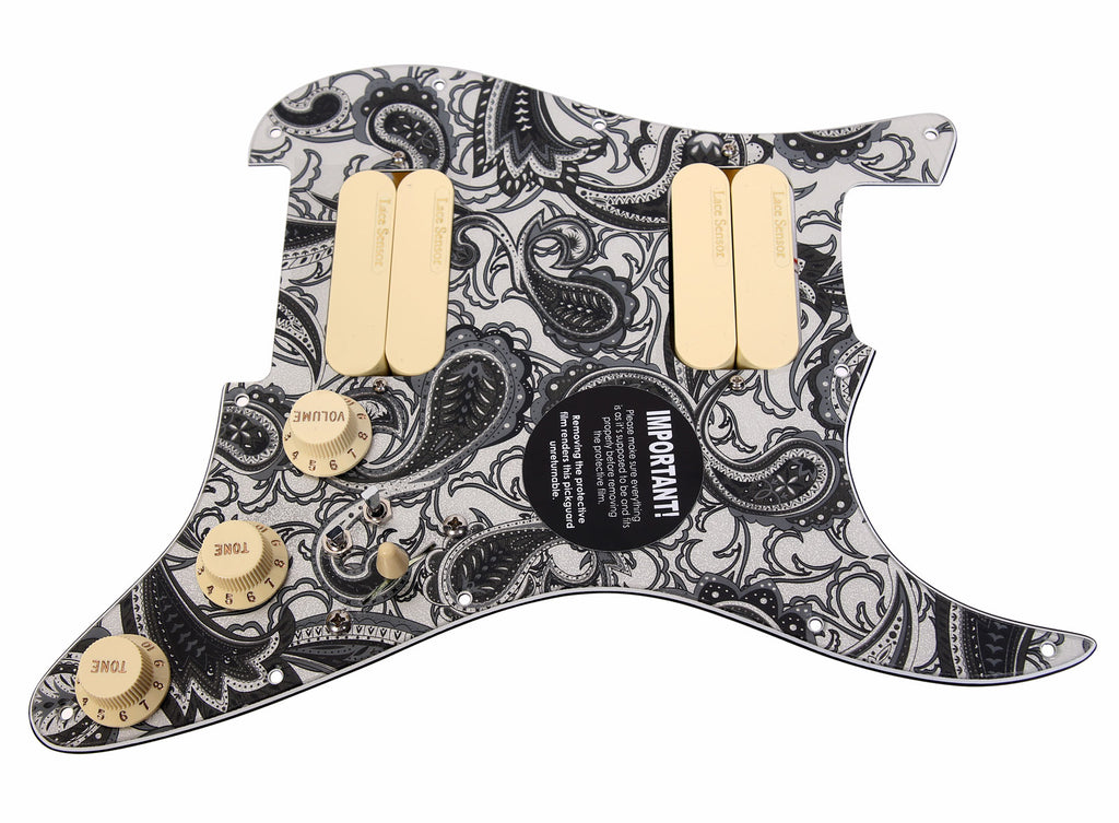 920D Lace Sensor Gold HH Splittable Dually Strat Loaded Pickguard PS/AW