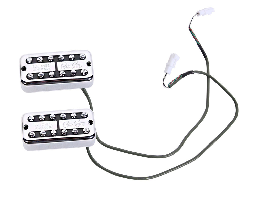 tv jones brian setzer pickups   gretsch electromatic