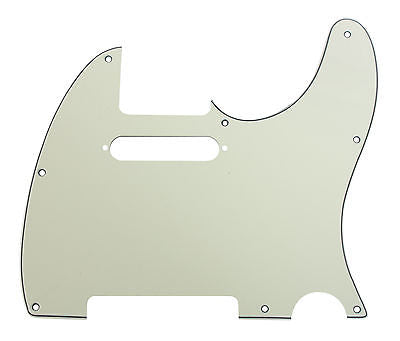 920D Custom 8-Hole Precision CNC Cut T Style Pickguard, 3-Ply Mint Green