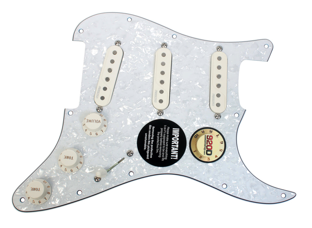 920D Custom Fishman Fluence SSS Loaded Pickguard Multi-Voice White Pearl Parchment