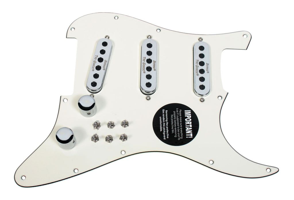 920D Custom Loaded Pickguard Burns London Mini-Trisonics Parchment / Chrome