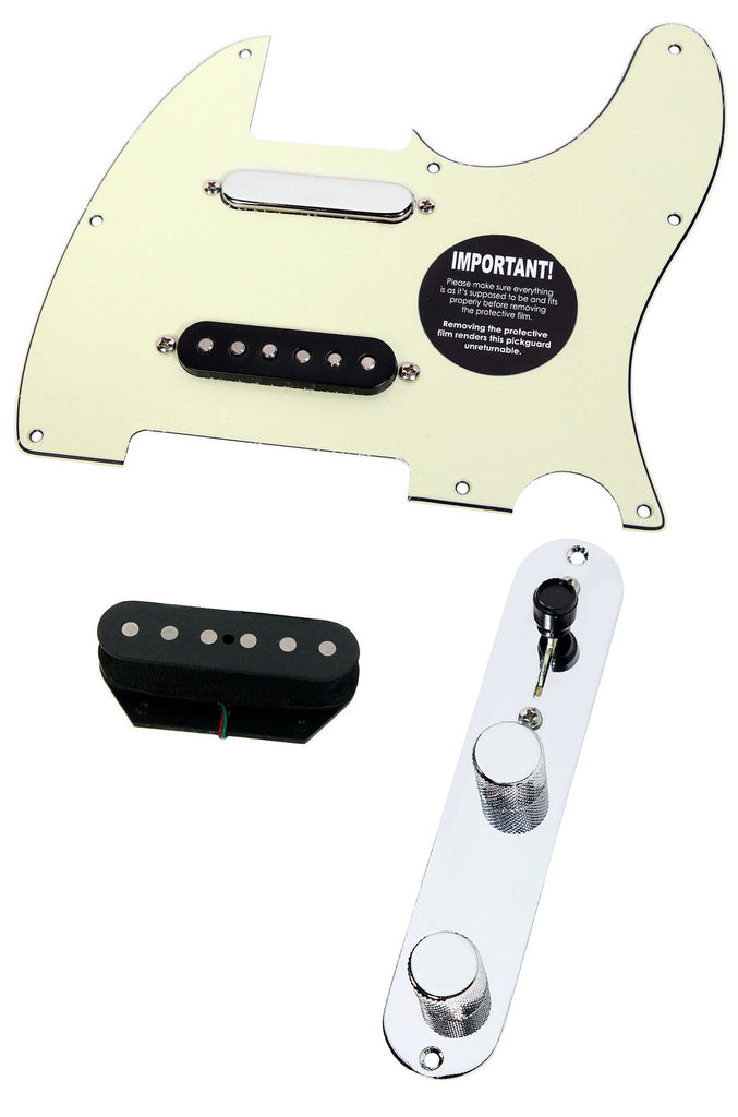 920D Fender Nashville Tele Telecaster Loaded Pickguard DiMarzio Area, Mint Green