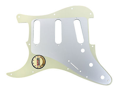 920D Custom 11-Hole SSS Precision CNC Cut Stratocaster Pickguard, 3-Ply Mint Green