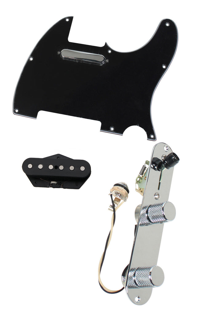 920D Custom Texas Vintage Pre-Wired Loaded Pickguard T3W-C Black