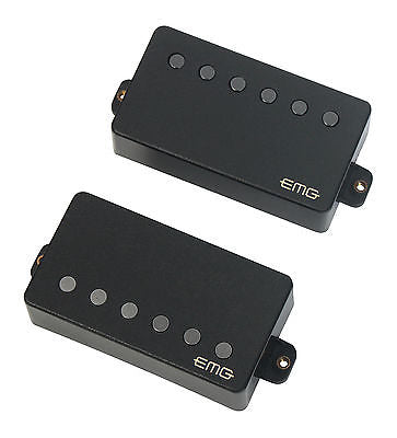 EMG 57/66 Active Solderless Alnico V Humbucker Set Black