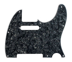 920D Custom 8-Hole Precision CNC Cut T Style Pickguard, Black Pearl