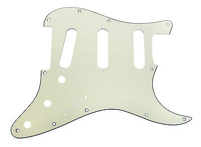 920D Custom 11-Hole SSS Precision CNC Cut S Style Pickguard, 3-Ply Mint Green