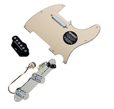 Fender Telecaster Loaded Pickguard Seymour Duncan Quarter Pound Pickups T3W, CR
