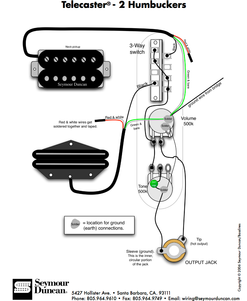 Fender Tele Telecaster 3 Way Wiring Harness 500k Long Shaft Pots Switch On Toggle Diagram Rear Route
