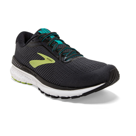 Mens Brooks Adrenaline GTS 20 Black/Lime/Blue Grass