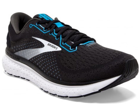 Men's Brooks Glycerin 18 Black/Atomic Blue/White