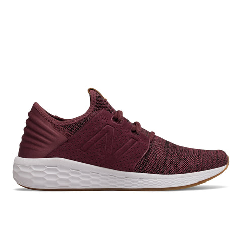 Mens New Balance Fresh Foam Cruz v2 Knit Burgundy