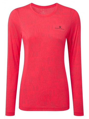 Wmn's Momentum Afterlight L/S Tee Hot Pink