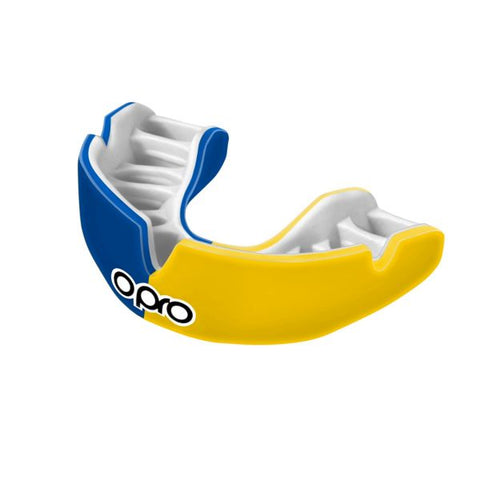 Power-Fit Mouth Guard- Blue+ Yellow