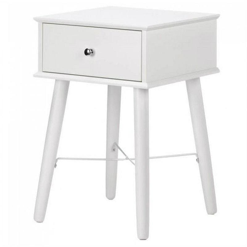Accent Plus Modern Chic White Side Table 10017523 by
