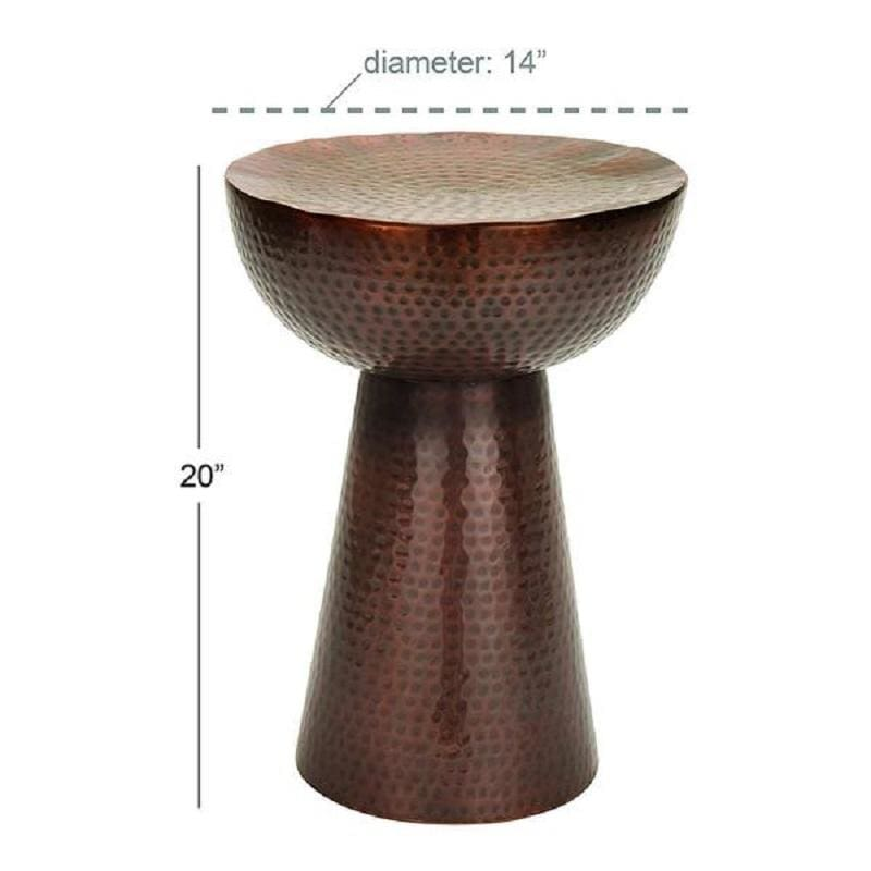 Benzara BM01862 Vintage Inspire Metal Bronze Table