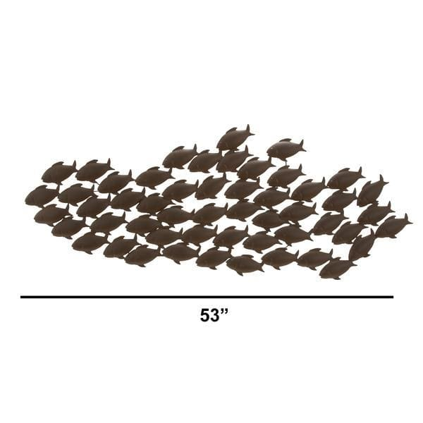 Benzara BM05830 Attractive Metal Fish Wall Decor In Bronze
