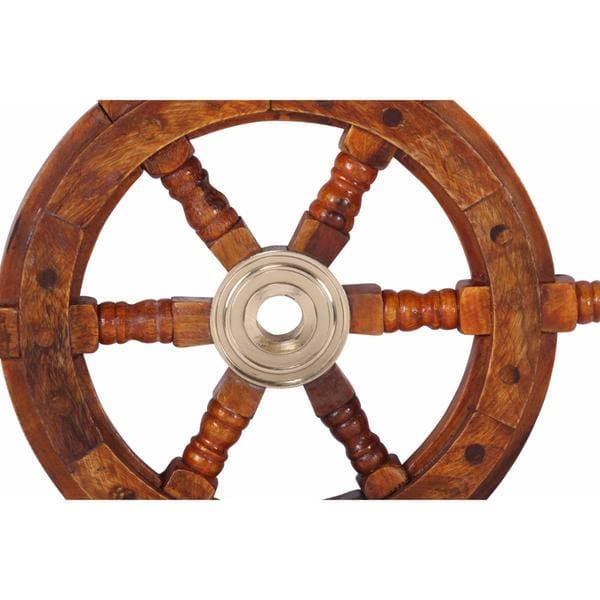 Benzara Kaunas Ship Wheel Wall Art Decor BM34831