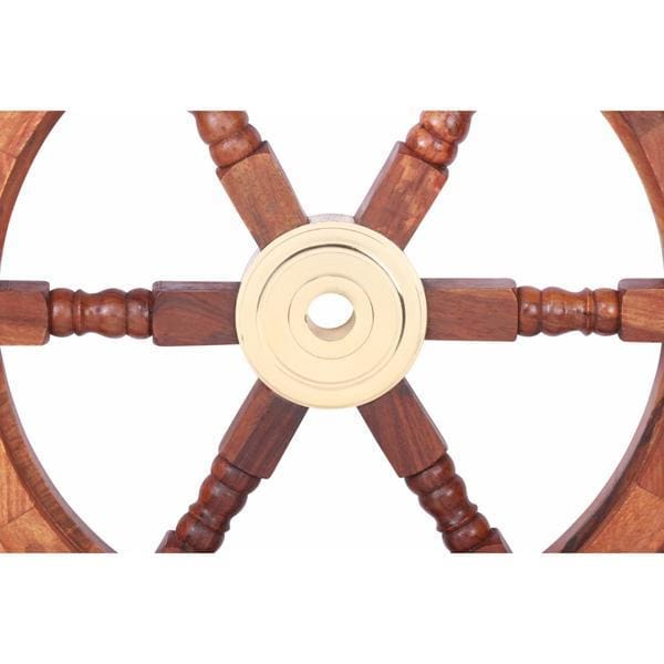 Benzara Bologna Ship Wheel Wall Art BM34833