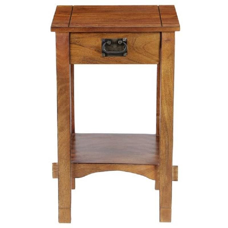 The Urban Port BM122854 Spacious Mango Wood Nightstand