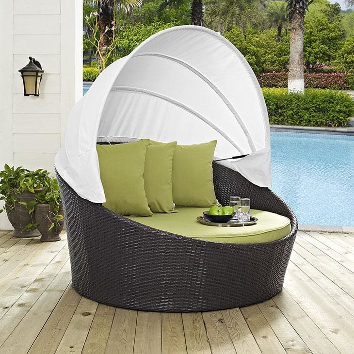 Convene Canopy Outdoor Patio Daybed Eei-2175-Exp-Per - Furniture > Outdoor Furniture > Outdoor Seating > Sunloungers