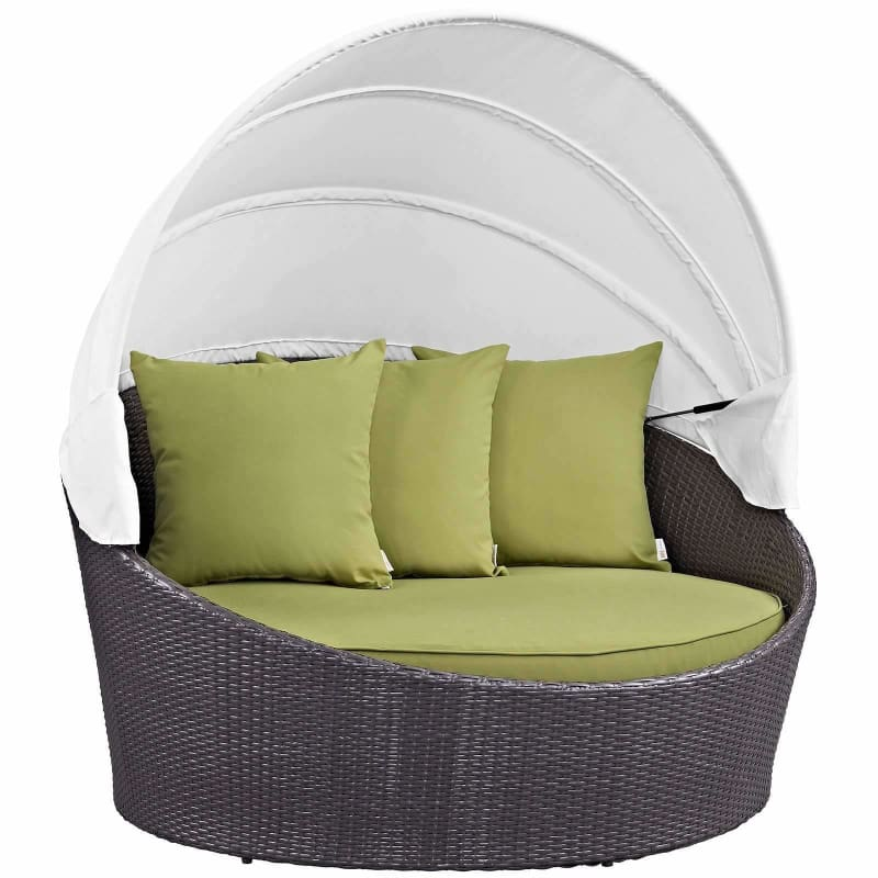 Modway Furniture, Convene Canopy Outdoor Patio Daybed EEI-2175-EXP-TRQ,