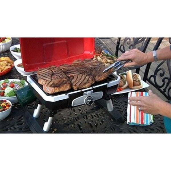 Cuisinart Portable Tabletop Gas Grill Red CGG-180T