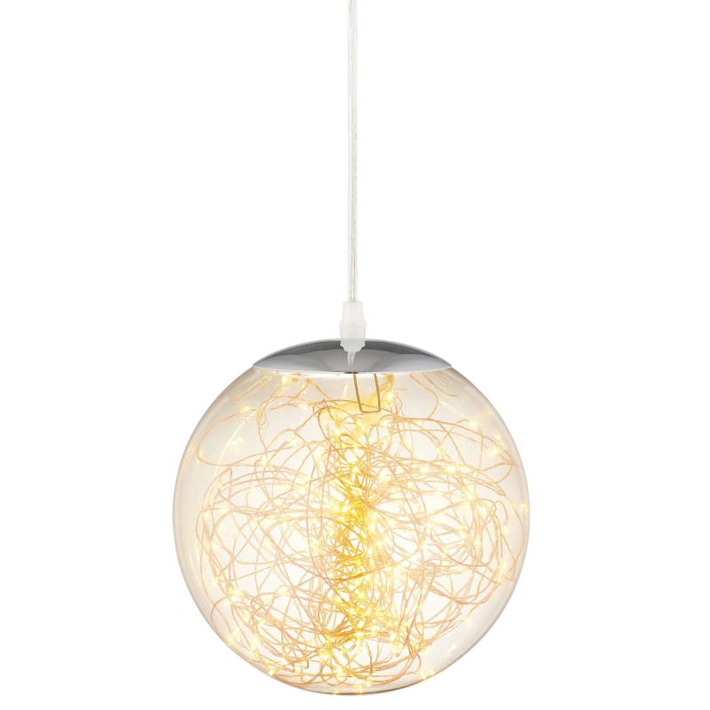 "Fairy 12"" Amber Glass Globe Ceiling Light Pendant Chandelier EEI-2927"