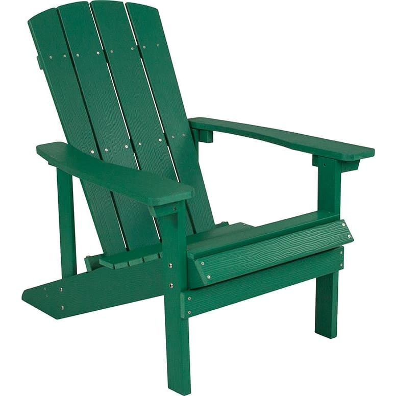 Flash Charlestown All-Weather Adirondack Chair Faux Wood Green