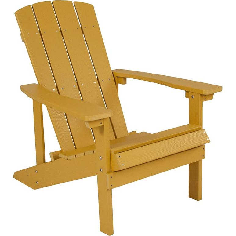 Flash Charlestown All-Weather Adirondack Chair Faux Wood Yellow