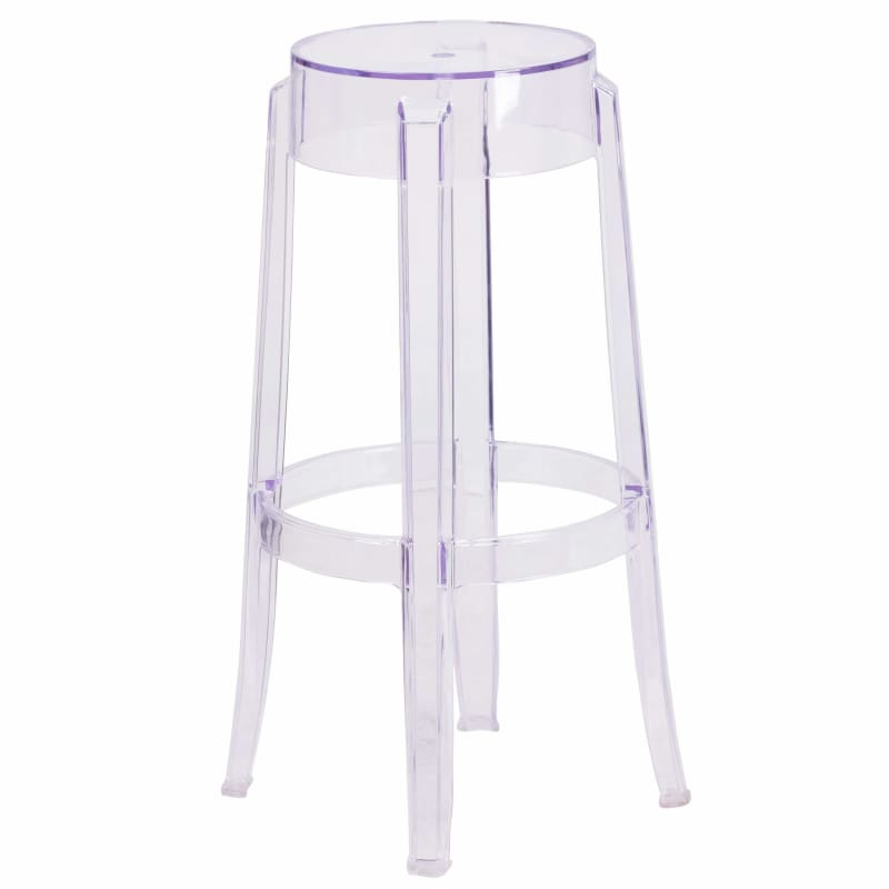 Flash Furniture, Flash Furniture 29.75'' High Transparent Barstool FH-118-APC2-GG,