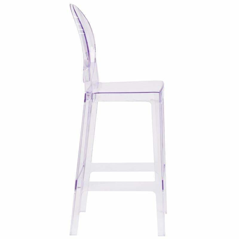 Flash Furniture OW-GHOSTBACK-29-GG Ghost Barstool Oval Back