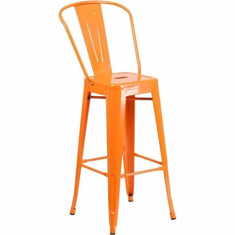 Flash Furniture, Flash Furniture 30'' High Metal Barstool with Back,