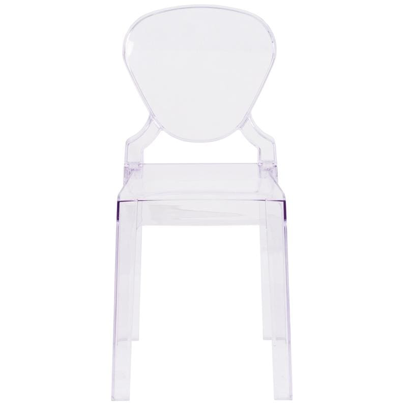 Flash Ghost Clear Chair Ow-Tearback-18-Gg W/ Tear Back - Furniture > Chairs > Kitchen & Dining Room Chairs