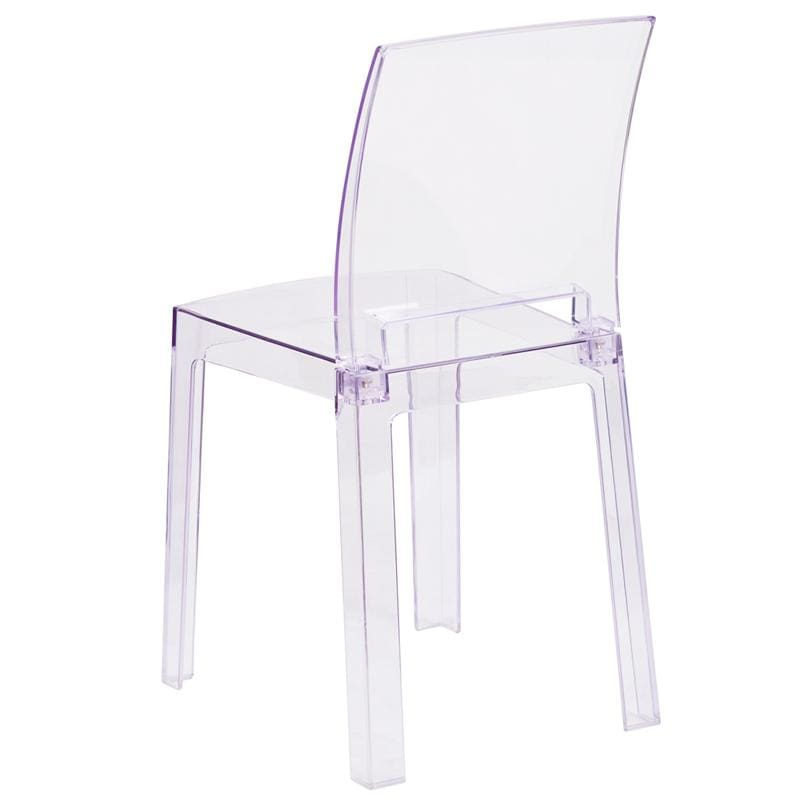 Flash Furniture Crystal Ghost Chair w/ Square Back OW-SQUAREBACK-18-GG