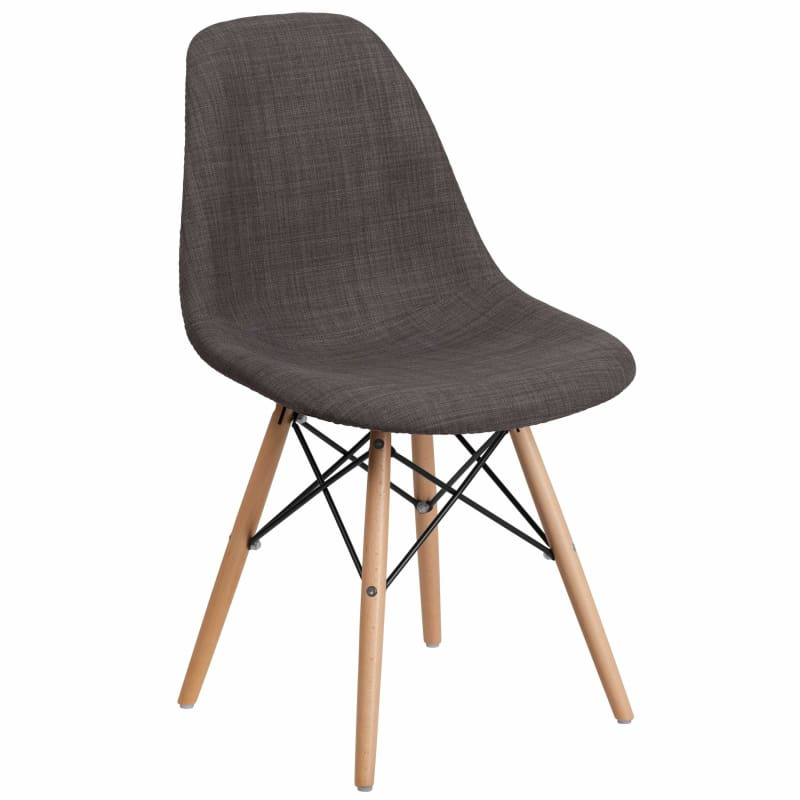 Flash Furniture, Flash Elon Series Fabric Chair with Wood Base FH-130-DCV1,