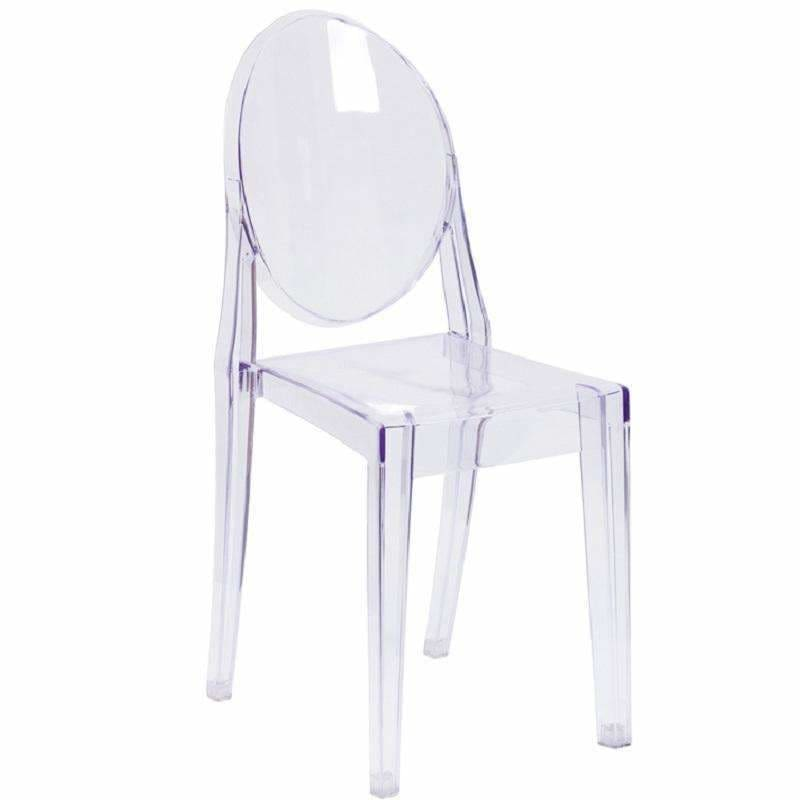 Flash Furniture, Ghost Side Chair in Transparent Crystal Clear FH-111-APC-CLR, [product_id]