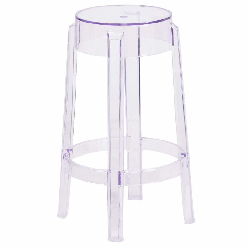 Flash Furniture, Flash Furniture 25.75'' High Transparent Counter Height Stool,