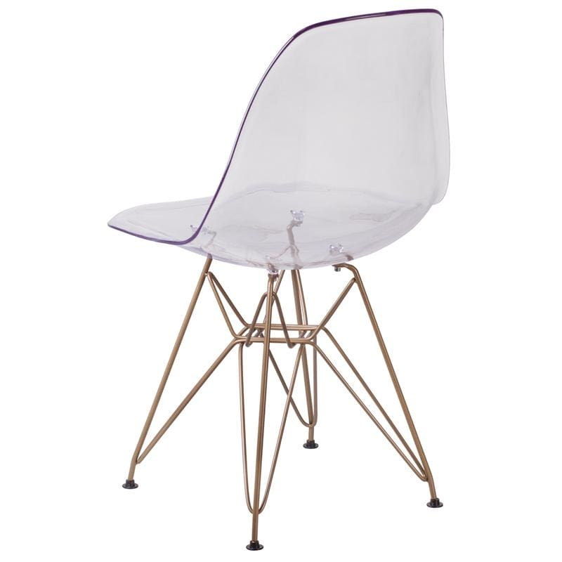Flash Furniture Elon Ghost Chair Gold Base FH-130-CPC1-GG