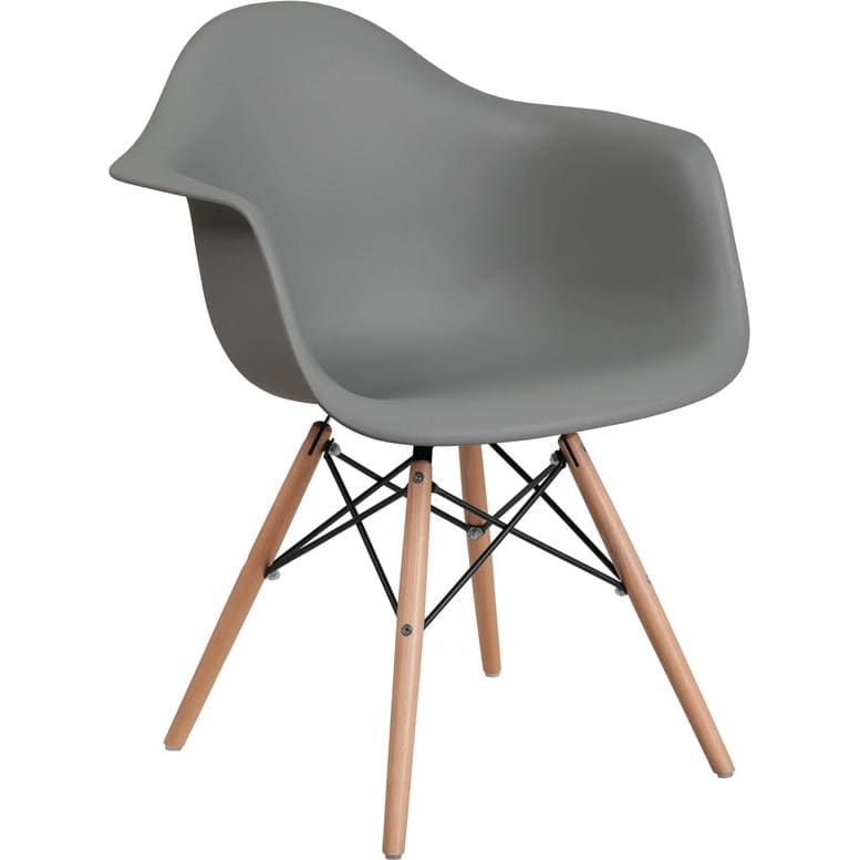 Flash Furniture Fh-132-Dpp Alonza Series Plastic Chair - Gray - Furniture > Chairs > Kitchen & Dining Room Chairs