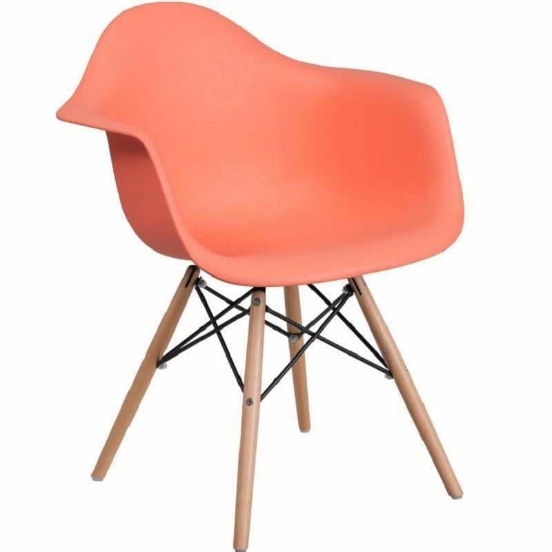 Flash Furniture, Flash Alonza Series Plastic Chair with Wood Base FH-132-DPP,