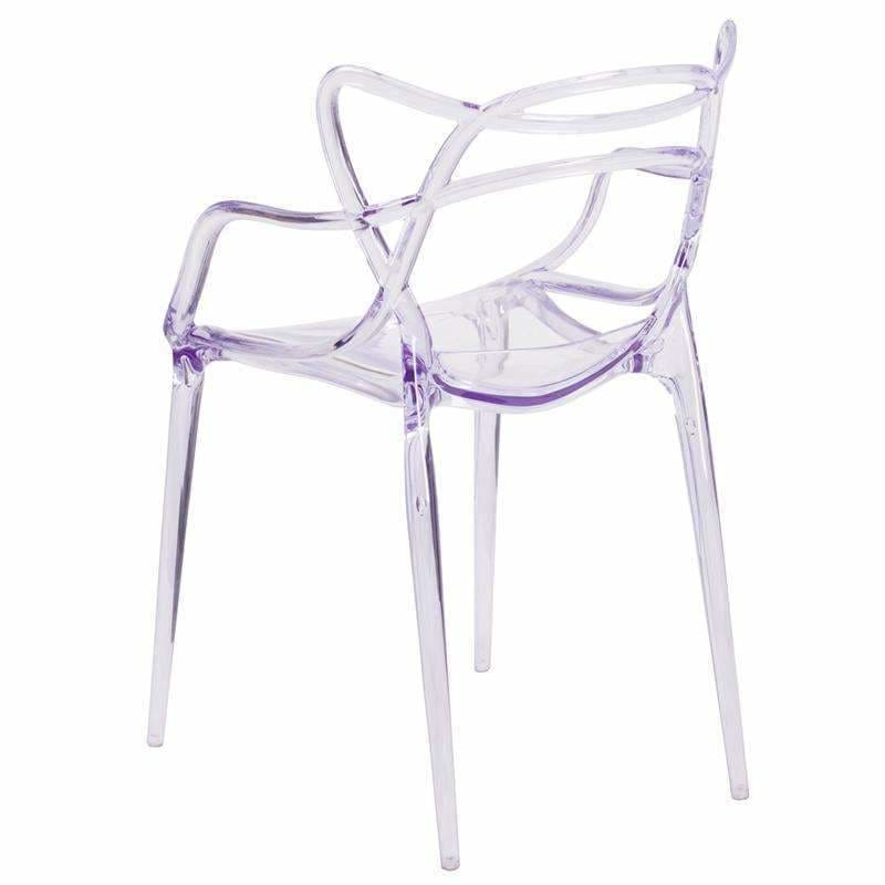 Flash Furniture FH-173-APC-GG Nesting Clear Side Chair