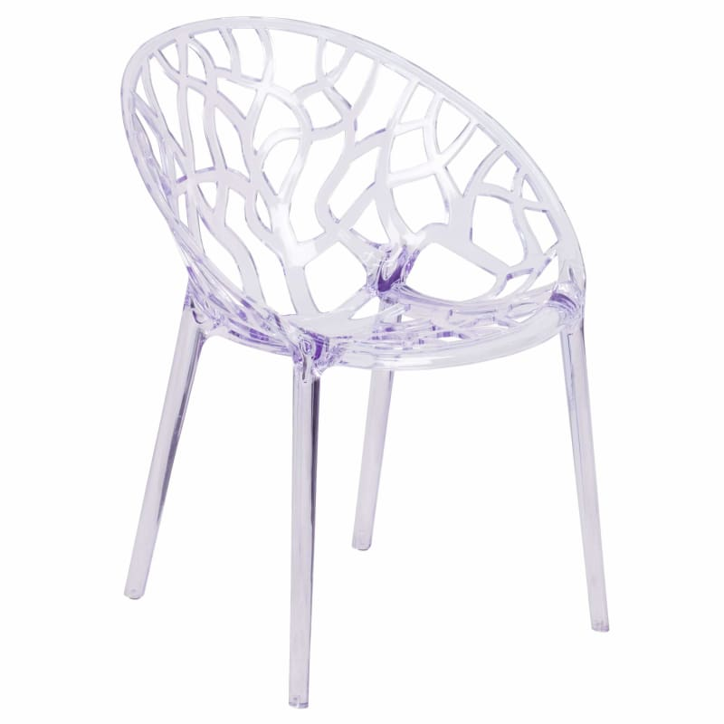 Flash Furniture, Flash Specter Series Transparent Stacking Side Chair,