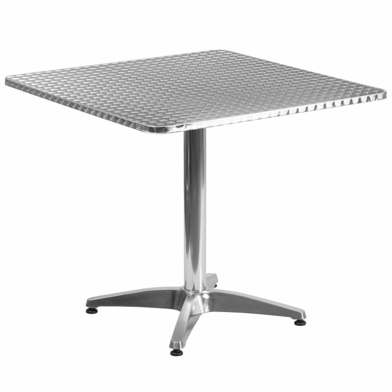 Flash Furniture, Flash Furniture TLH-053-3-GG Square Aluminum Table with Base 31.5'',