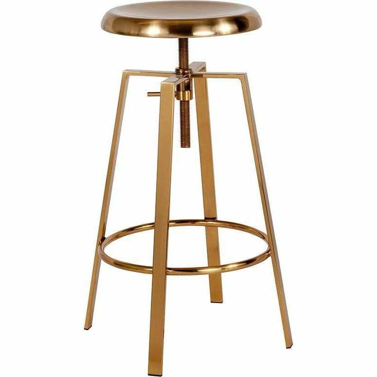 Flash Furniture, Flash Furniture Toledo Industrial Style Barstool Gold Finish,