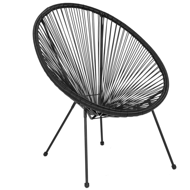 Flash Furniture Woven Bungee Oval Lounge Chair